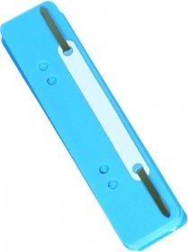 Wąsy skoroszytowe spinające dokumenty Donau, z metalową zawieszką, 25 sztuk, niebieski