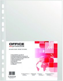 Koszulki groszkowe Office Product, A4, 40 µm, 100 sztuk, przezroczysty