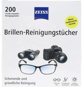 Chusteczki do czyszczenia okularów i wyświetlaczy Zeiss, 200 sztuk