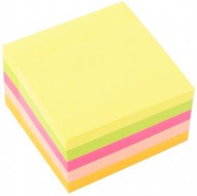 Karteczki samoprzylepne D.Rect, 76x76mm, 400 karteczek, mix kolorów neonowych