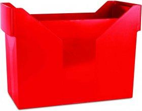 Pojemnik na 20 teczek zawieszanych Donau, 330x260x160mm, czerwony