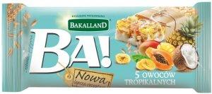 Baton zbożowy Bakalland BA! 5 owoców tropikalnych, 40g