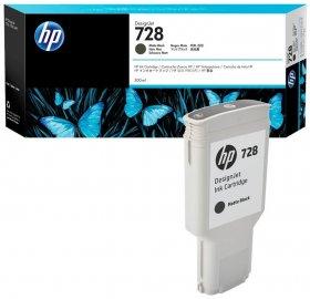 Tusz HP 728 (F9J68A), 300ml, czarny matowy