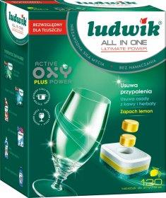 Tabletki do zmywarek Ludwik All in One Ultimate Power, cytrynowy, 2.16kg,  120 sztuk