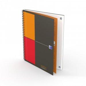Kołonotatnik Oxford International Notebook, A4+, w kratkę, 80 kartek, szary