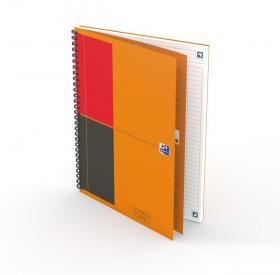 Kołonotatnik Oxford International Notebook, A4+, w linie, 80 kartek, pomarańczowy