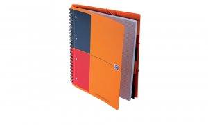 Kołonotatnik Oxford Organiserbook, A4+ w linie, 80 kartek, pomarańczowy