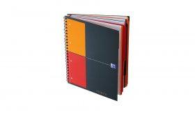 Kołonotatnik Oxford International Filingbook, A4+, w kratkę, 100 kartek, szary
