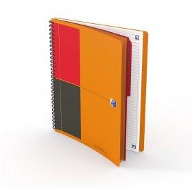 Kołonotatnik Oxford International ActiveBook, A4+, w linie, 80 kartek, pomarańczowy