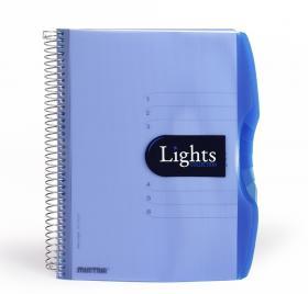 Kołonotatnik z przekładkami Mintra Lights, A5, w linie, 150 kartek, niebieski