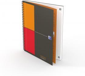 Kołonotatnik Oxford International Notebook B5, w kratkę, 80 kartek, szary