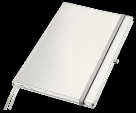 Notatnik w kratkę Leitz Style, A4, twarda oprawa, 80 kartek,arktyczna biel