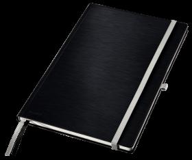 Notatnik w kratkę Leitz Style, A4, twarda oprawa, 80 kartek, satynowa czerń