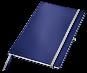 Notatnik w kratkę Leitz Style, A4, twarda oprawa, 80 kartek, tytanowy błękit