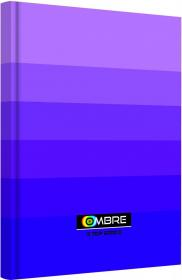 Brulion w kratkę TOP 2000 Ombre, A5, twarda oprawa, 96 kartek, fioletowy