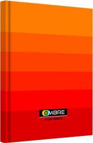 Brulion w kratkę TOP 2000 Ombre, A5, twarda oprawa, 96 kartek, pomarańczowy
