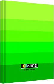 Brulion w kratkę TOP 2000 Ombre, A5, twarda oprawa, 96 kartek, zielony