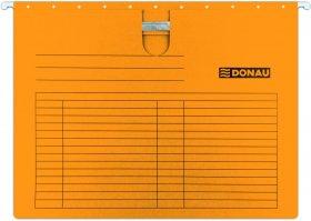 Skoroszyt zawieszany kartonowy Donau, z wąsem, A4, 230g/m2, pomarańczowy