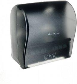 Dozownik do ręczników Merida Solid Cut, w roli, mechaniczny, front transparentny ciemny połysk, tył ciemny połysk