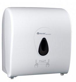 Dozownik do ręczników Merida Top,  w roli, mechaniczny, front kolor biały, okienko kolor szary