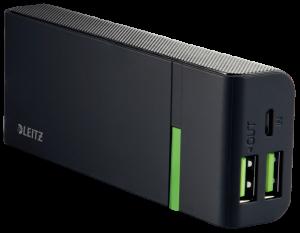 Przenośna ładowarka Leitz Complete 5200 mAh, 2 złącza USB, czarny