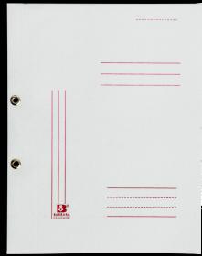 Skoroszyt kartonowy oczkowy Barbara, A4, do 150 kartek, 280g/m2, biały