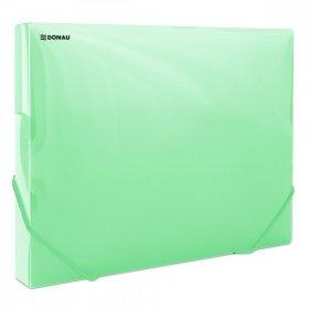 Teczka plastikowa z gumką poszerzana Donau, A4, 700µm, 300 kartek, zielony