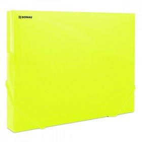 Teczka plastikowa z gumką poszerzana Donau, A4, 700µm, 300 kartek, żółty