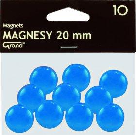 Magnesy Grand, 20mm, 10 sztuk, niebieski