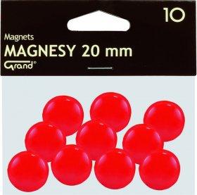 Magnesy Grand, 20mm, 10 sztuk, czerwony