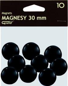 Magnesy Grand, 30mm, 10 sztuk, czarny