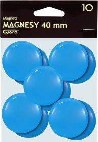 Magnes Grand, 40mm, 10 sztuk, niebieski