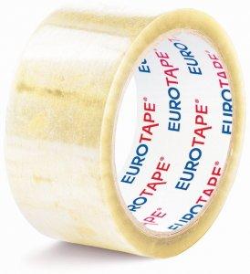"Taśma pakowa Eurotape, Premium ""Extra mocna"", 50mm x 66m, transparentny"
