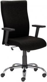 Fotel gabinetowy Nowy Styl William R steel, tkanina, czarny