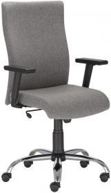 Fotel gabinetowy Nowy Styl William R steel, tkanina, szary