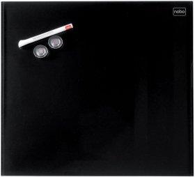 Tablica szklana suchościeralno-magnetyczna Nobo, Diamond, 45x45cm, czarny