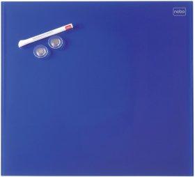 Tablica szklana suchościeralno-magnetyczna Nobo, Diamond, 45x45cm, niebieski