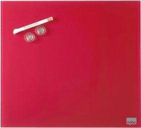 Tablica szklana Nobo, Diamond, 30x30cm, czerwony