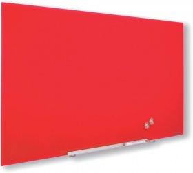 Tablica szklana suchościeralno-magnetyczna Nobo, Diamond, 188.3x105.3cm, czerwony