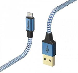 Kabel ładujący Hama Reflected Lightning, 1.5m, niebieski