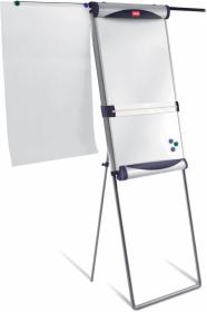 Flipchart ze stali lakierowanej Nobo Classic, suchościeralno-magnetyczna, na stojaku