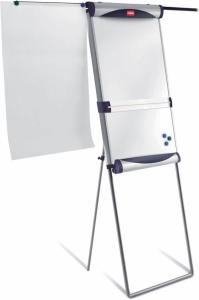 Flipchart ze stali lakierowanej Nobo Classic, suchościeralno-magnetyczna, na stojaku 70x190cm