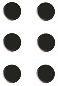 Magnesy Nobo, 20 mm, 10 sztuk, czarny