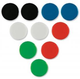 Magnesy Nobo, 20 mm, 10 sztuk, mix kolorów