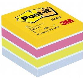 Notes samoprzylepny Post-it, 51x51 mm, 400 karteczek, mix kolorów