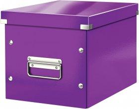 Pudło uniwersalne Leitz Click&Store, rozmiar M (260x240x260mm), fioletowy