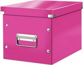 Pudło uniwersalne Leitz Click&Store, rozmiar M (260x240x260mm), różowy