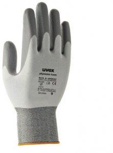Rękawice powlekane Uvex Phynomic M1 Foam, rozmiar 8, szary
