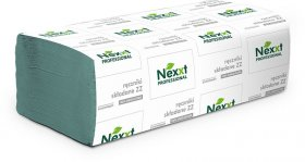 Ręcznik papierowy Nexxt, jednowarstwowy, w składce ZZ, 200 listków, zielony