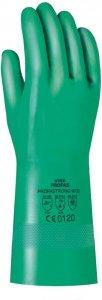 Rękawice chemoodporne Uvex Profastrong, rozmiar 7, zielony